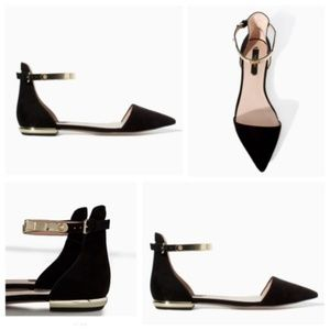 Zara Basic Collection pointed toe flats